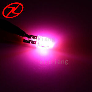 2pcs T10 W5w 194 Wedge Led Car Interior Light Bulb 12v Silica Side Stop Lamp Red