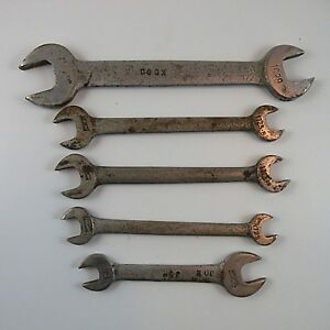5 Vintage Armstrong Open End Wrenches 13 32in 25 32in Usa