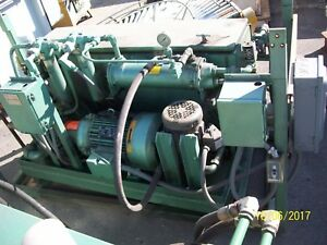 15 Hp Hydraulic Power Unit 17 Gpm 45 Gallon Reservoir W heat Exchanger Will Ship