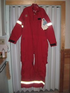 New Fireman Firefighter Suit Chieftain Wildland Coveralls Red Size 2xl