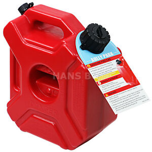 New Motorcycle Car Gasoline Oil Fuel Tank Can Pack 5l