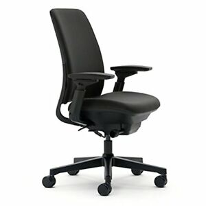 Steelcase Amia Task Chair Adjustable Back Tension Livelumbar Support Black