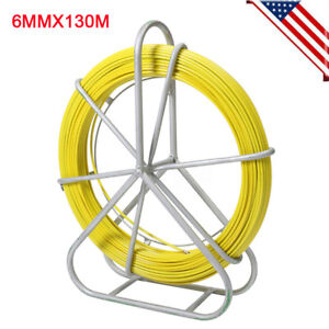 6mmx130m Fish Tape Fiberglass Wire Cable Pulling Rod Duct Rodder Puller