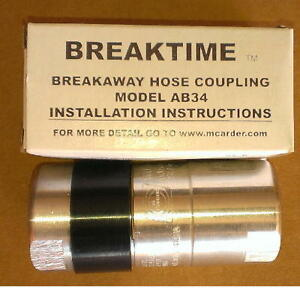 M carder Ab34 Breakaway 3 4 Repairable For Use With Opw Type Nozzles 2 Pack