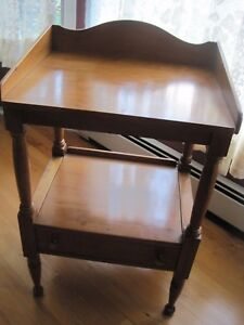 Vintage Consider H Willett Solid Wood Lamp Table W Drawer Louisville Kentucky