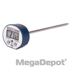 Reed R2000 40 450 F Degree Waterproof Digital Stem Thermometer