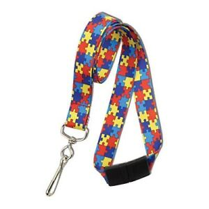 100 Pcs Autism Awareness Breakaway Neck Lanyard W Swivel Hook By Specialist Id