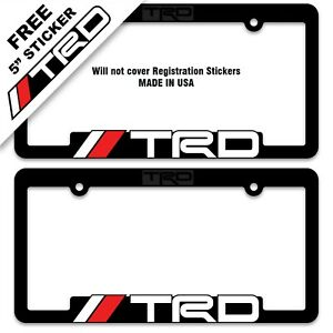 2 Trd License Plate Frames Toyota Racing Development Tacoma Tundra 4runner 86