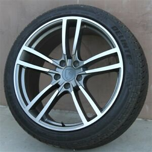 Set Of 4 22 Wheels Tires Package For Porsche Cayenne Touareg Turbo Style