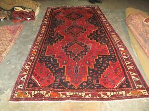 Semi Antique Kurd Bijar Hand Knotted Persian Wool Rug 4 8 X 11 0 Gallery Runner