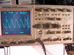 Tektronix 2465b Analog Oscilloscope Sold W A Probe S B05448