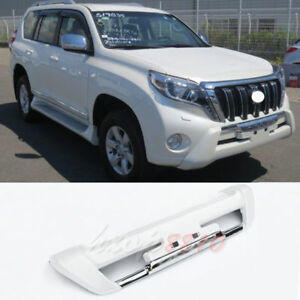 White Abs Car Parts Front Bumper Protector Refit For Toyota Prado 2014 17