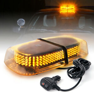 Xprite 240 Led Roof Emergency Hazard Flash Strobe Magnetic Mini Light Bar Amber