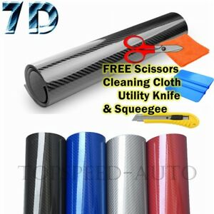 Premium Super Gloss 7d Carbon Fiber Vinyl Film Wrap Bubble Free Air Release 6d