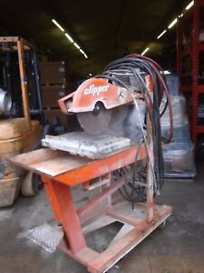 Briksaw Clipper Briksawmatic 12 concrete Abrasive Tile Brick Saw 3 Hp Electric