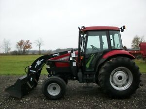 2006 Case Ih Jx85 Tractor W Woods Loader Cab heat air 2 Remotes 1 842 Hours