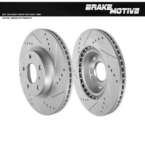 Front Drilled Slotted Brake Rotors For 2002 2003 2005 Infiniti G35 03 05 350z