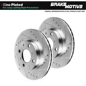 Front Drilled And Slotted Brake Rotors For Nissan 240sx Sentra 4lug
