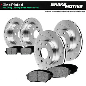 Front Rear Brake Rotors And Metallic Pads For 2002 2003 2004 Ford Focus Svt