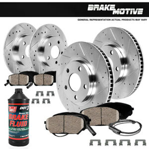 Front Rear Drill Slot Brake Rotors Ceramic Pads For Mercedes Benz E320 W211