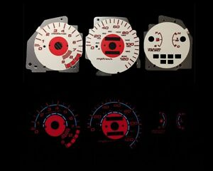 92 95 Civic Lx Ex Si Mt Red Indigo Glow White Gauges 92 93 94 95 I 126