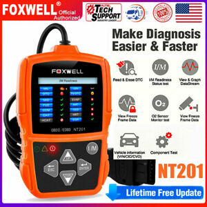 Universal Car Engine Check Obd2 Code Reader Diagnostic Scan Tool Foxwell Nt201