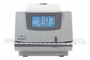 Surface Wall mount Electronic Card Punch Time Clock 5 3 4 h X 6 3 8 w X 7 d