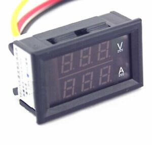 Dc 4 5 30v 0 50a Dual Led Digital Volt Meter Ammeter Voltage Amp Power Meter 12v