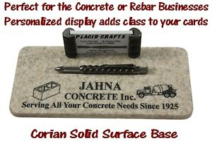 Personalized Sahara Genuine Rebar Business Card Holder Pen Set bch 135