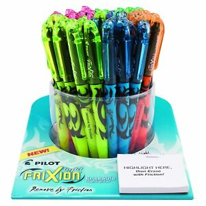 Pilot Frixion Light Erasable Highlighters Tub Of 50 Capped Highlighters Chisel