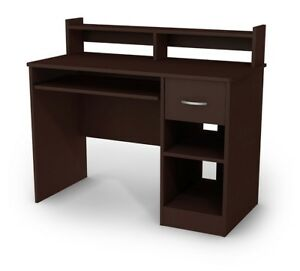 Brown Student Computer Writing Desk Wood Table Home Office Workstation Furniture