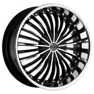 26 Inch 26x9 5 2crave No 19 Black Machined Lip Wheel Rim 6x5 5 6x139 7 30
