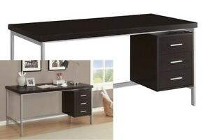 Cappuccino Modern Computer Desk Writing Table Home Office Workstation Furniture