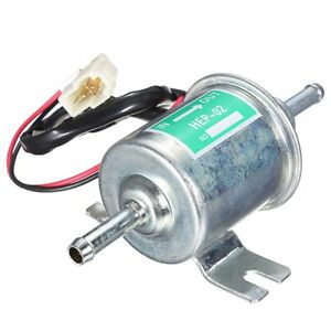 Universal 12v Gas Diesel Petrol Inline Low Pressure Electric Fuel Pump Hep 02a