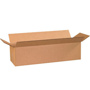 50 24x8x6 Cardboard Shipping Boxes Long Corrugated Cartons