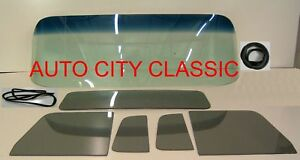 Glass 1954 Chevy Gmc Pickup Truck Gb Windshield Yt Vent Door Back Seals W chrome