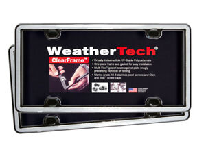 Weathertech Clearframe License Plate Frame Durable Frame 2 Pack 17 Colors