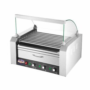 Great Northern 9 Roller Grilling Machine Bun Warmer Cover 24 Hot Dogs