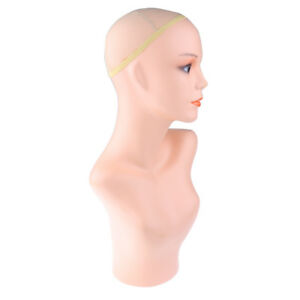 New Female Mannequin Head Shoulder Wigs Hat Necklace Display Stand Holder