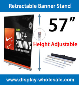 Retractable Banner Stand 57 2 Pcs