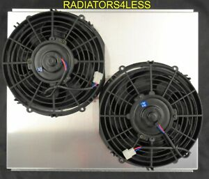 New Aluminum Radiator Fan Shroud W 10 Fans 67 68 69 Chevy Camaro 21 Core