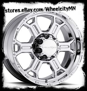 17 Inch Chrome Vision Raptor 372 Wheels Rims Ford F250 F350 Excursion 8x170 25