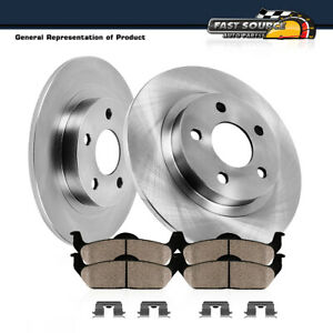 Rear 313 Mm Brake Rotors And Ceramic Pads Kit 2002 2003 2004 Honda Odyssey Ex Lx