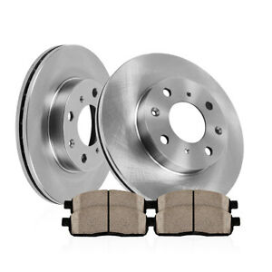 Front Oe Disc Brake Rotors And Ceramic Pads For 2004 2009 Kia Spectra