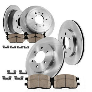 Front rear Oe Disc Brake Rotors Ceramic Pads For 2015 2016 Escalade Tahoe