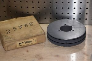Browning 2ta58 2 Groove Sheave V Belt Pulley New
