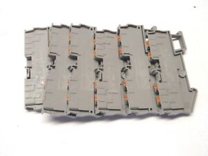 Lot Of 13 Phoenix Contact Pt 2 5 quattro Din rail Terminal Block