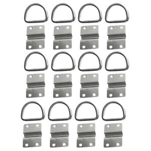 12pcs Lashing D Ring Staple Cleat Tie Down For Trailer Vans Truck Boat Rope