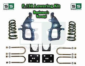 2004 2008 Ford F 150 2wd 4 6 Drop Lowering Kit Spindles Shackles 04 08