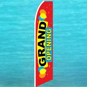 Grand Opening Flutter Flag Tall Curved Advertising Sign Feather Swooper Banner